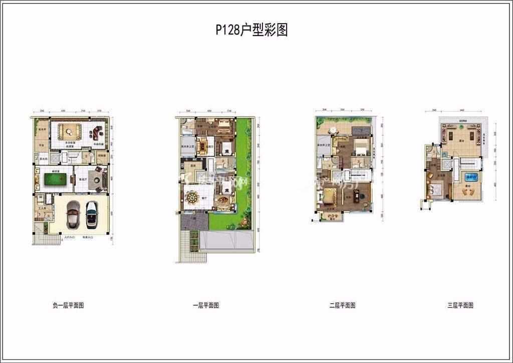 碧桂园润杨溪谷P128户型 四房及以上建筑面积210㎡