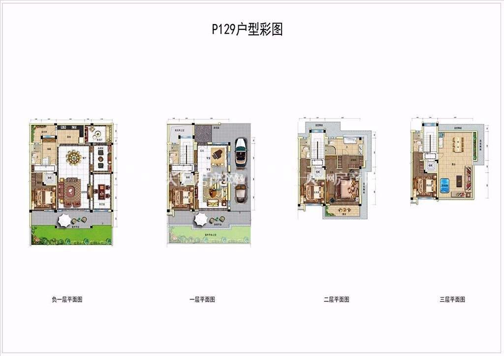 碧桂园润杨溪谷P129户型 四房及以上建筑面积242㎡