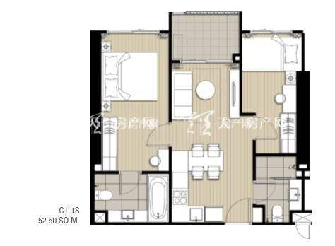 IDEO SUKHUMVIT 93两室一厅 53m² 参考总价177万.jpg