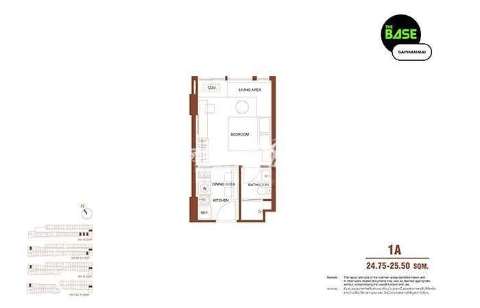 The Base Saphanmai一居室建筑面积25m²