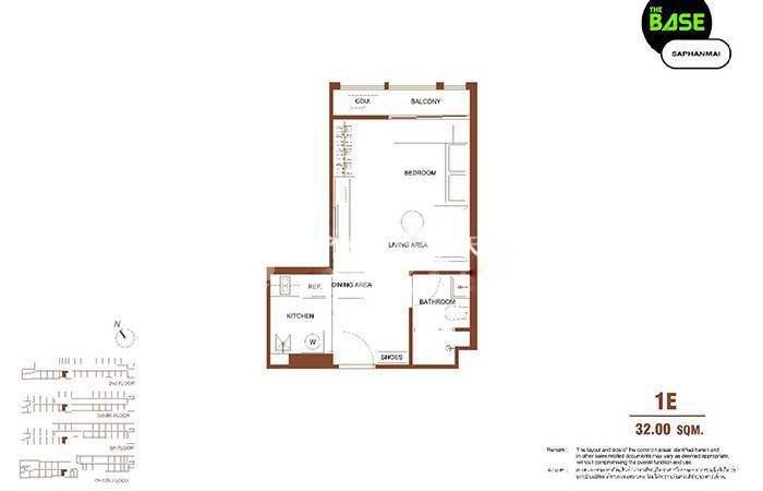 The Base Saphanmai一居室建筑面积32m²