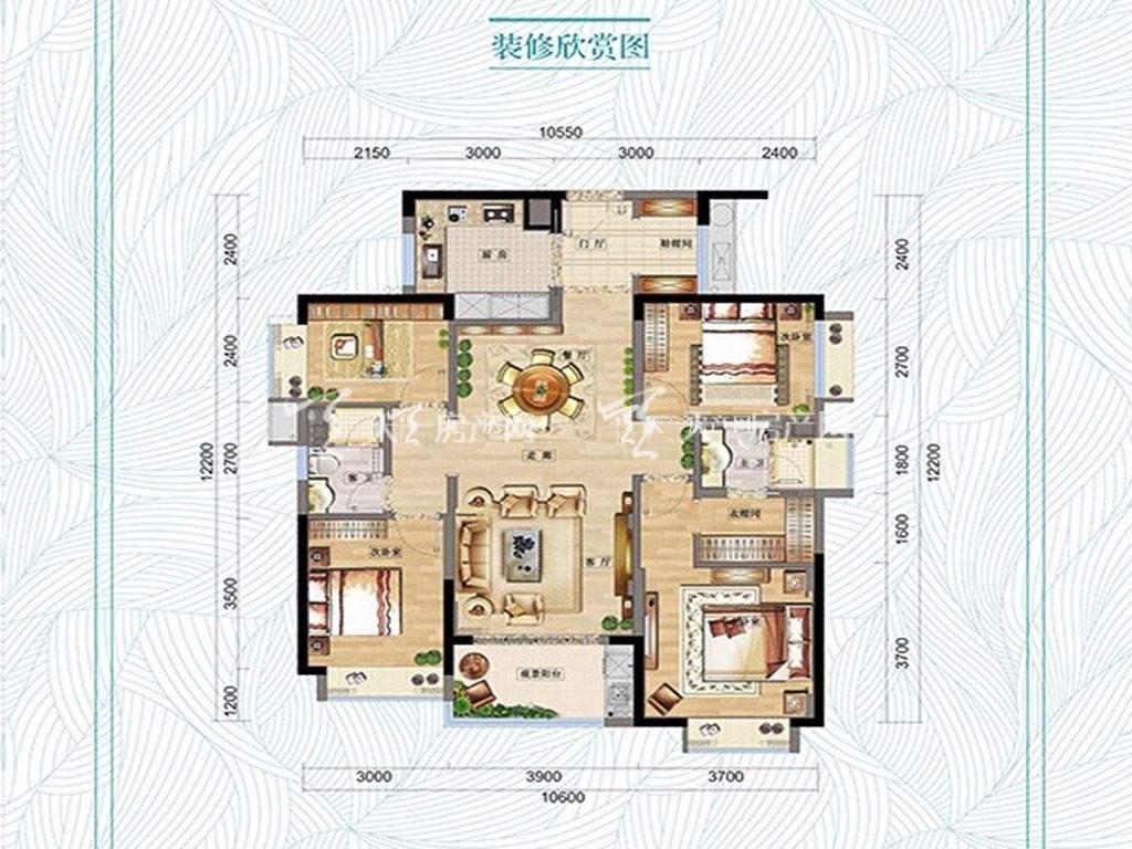 万科红树东岸万科红树东岸3#01户型图4室2厅2卫1厨建筑面积129㎡