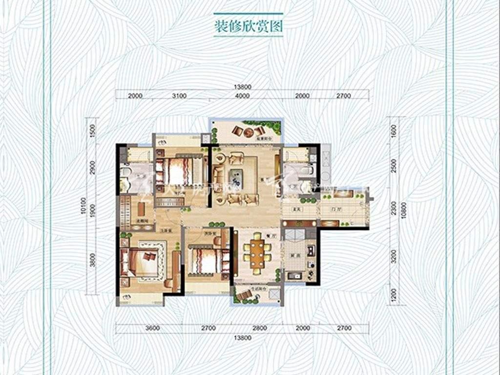 万科红树东岸万科红树东岸3#1单元03 2单元02户型图3室2厅2卫1厨建筑面积121㎡