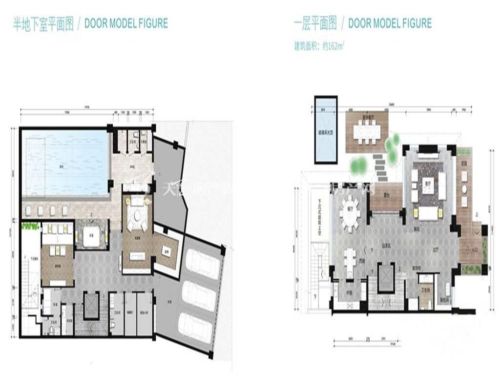万科红树东岸万科红树东岸双拼E户型图建筑面积162㎡