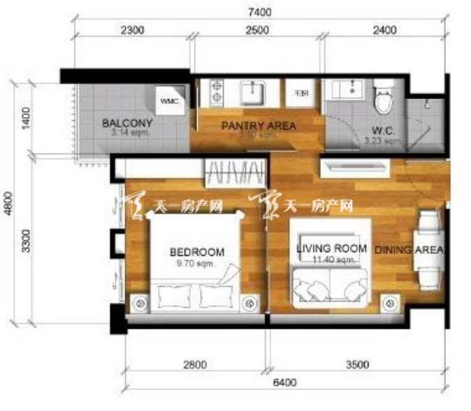 PARC EXO公寓项目A2户型