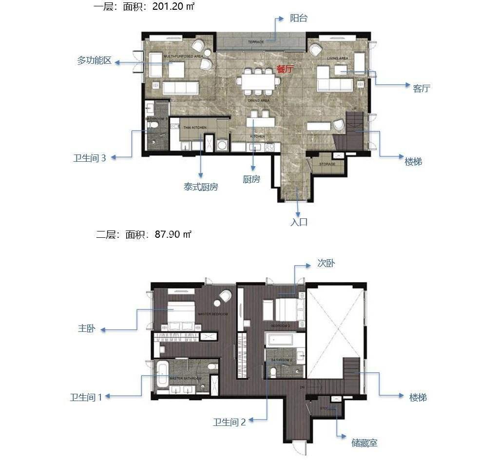 通罗凝婉郡复式2室户型(D5)