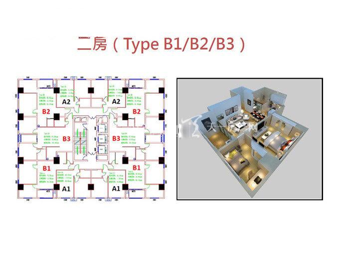 白金湾精品豪宅B1户型 2室2厅1卫 (建筑面积) 138㎡.jpg