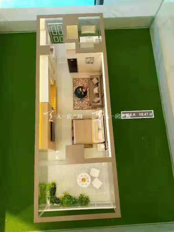 上都国际-Shangdu International1室1厅1卫建筑面积50㎡E型