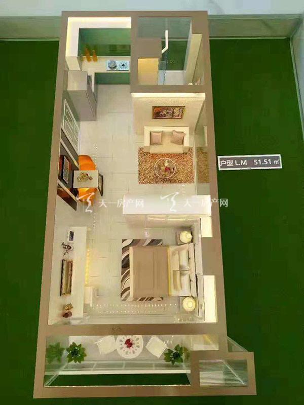 上都国际-Shangdu International1室1厅1卫建筑面积52㎡L户型