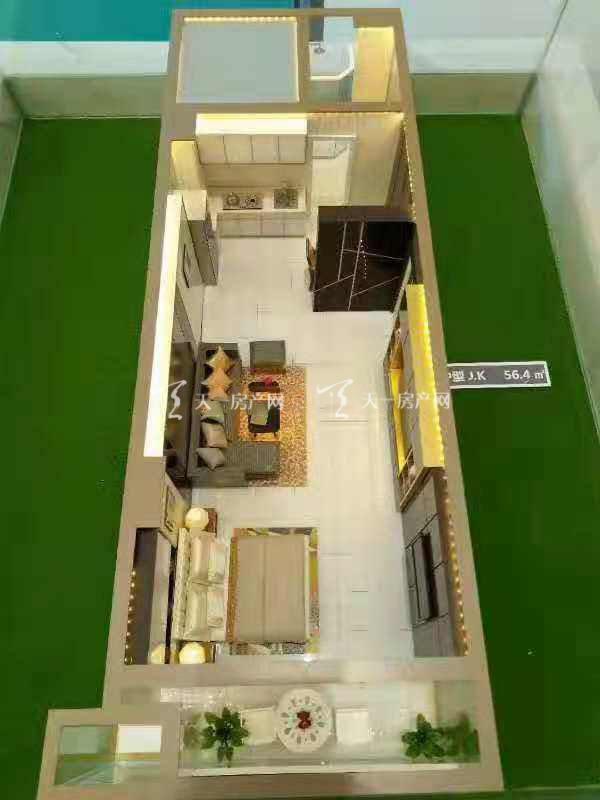 上都国际-Shangdu International1室1厅1卫建筑面积56㎡JK户型