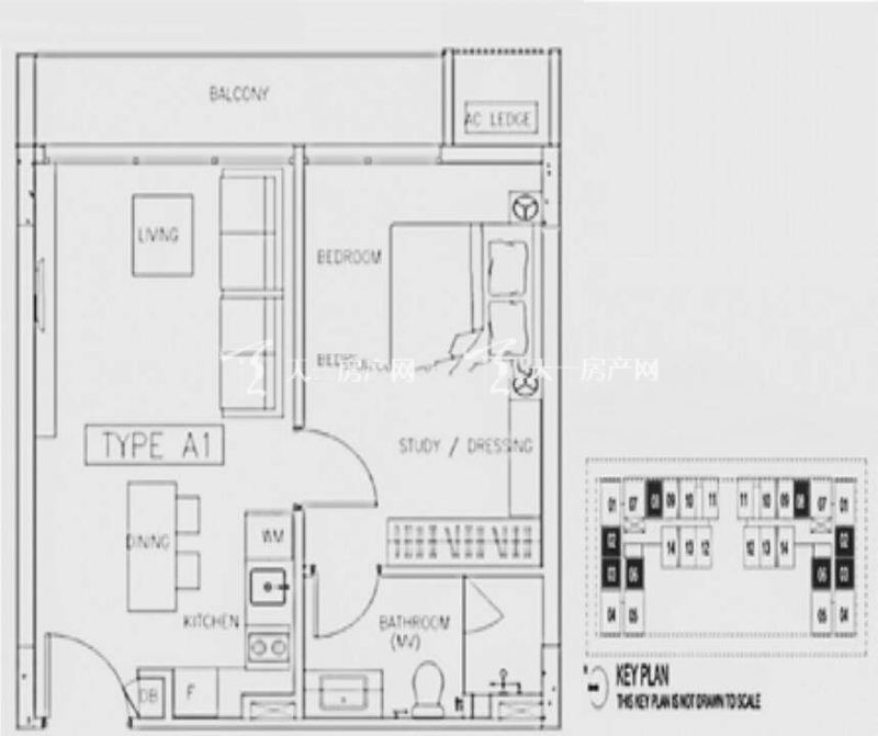 Skyline-云顶A1-1户型1室2厅1卫使用面积77㎡.jpg