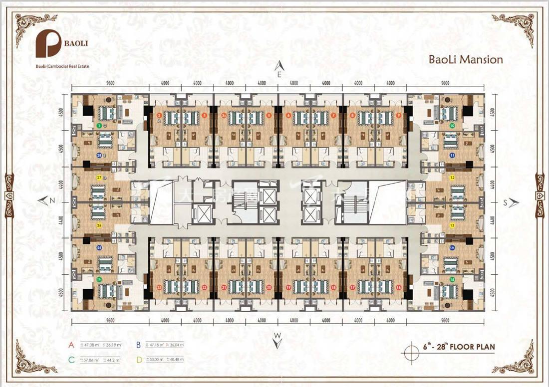 保利公馆-baoli mansion保利公馆户型图:1室1厅1卫1厨 建筑面积36.04㎡