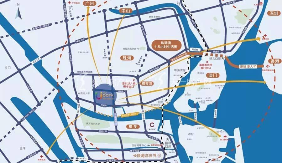 珠海富力优派广场交通图