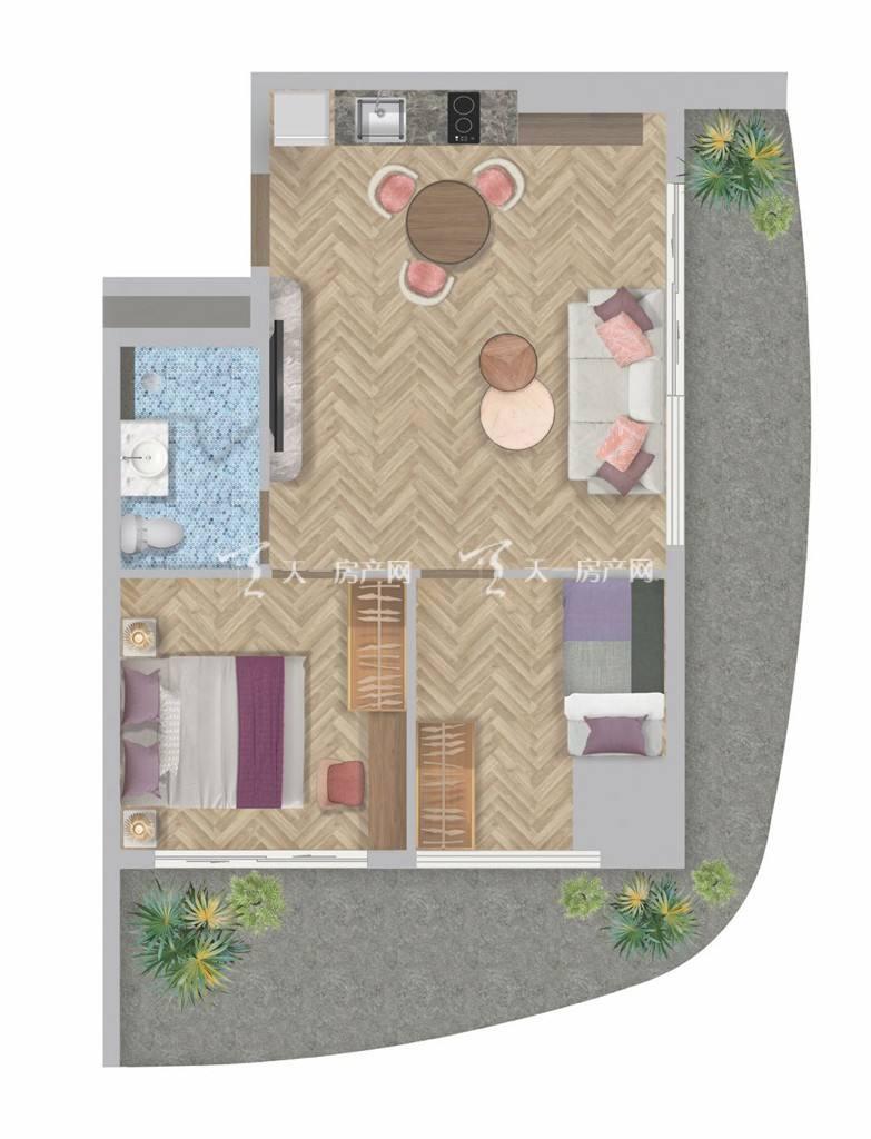 盈达金汇MESONG建筑面积65-84平两房,户型亮点全景大阳台.jpg