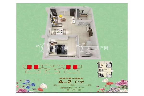 明基花园A-2户型 一房一厅一卫一厨 54㎡.jpg