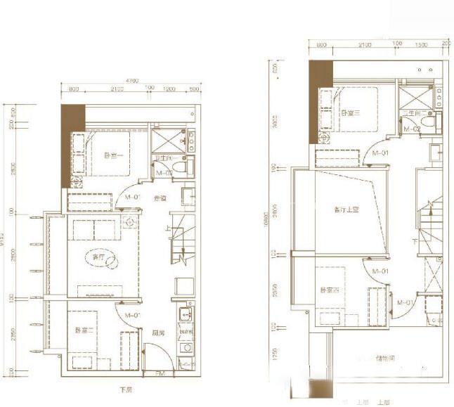 东基童梦天下B2 50.35㎡ 5室1厅2卫1厨