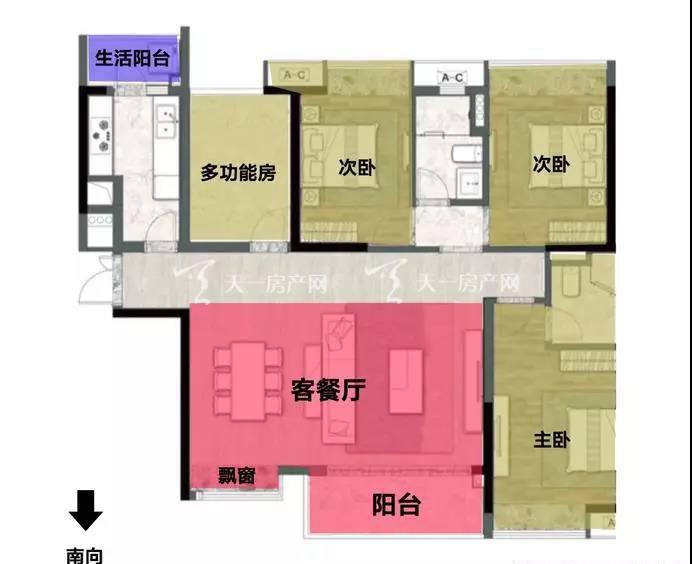 阅海135㎡ 3+1室2厅1厨2阳