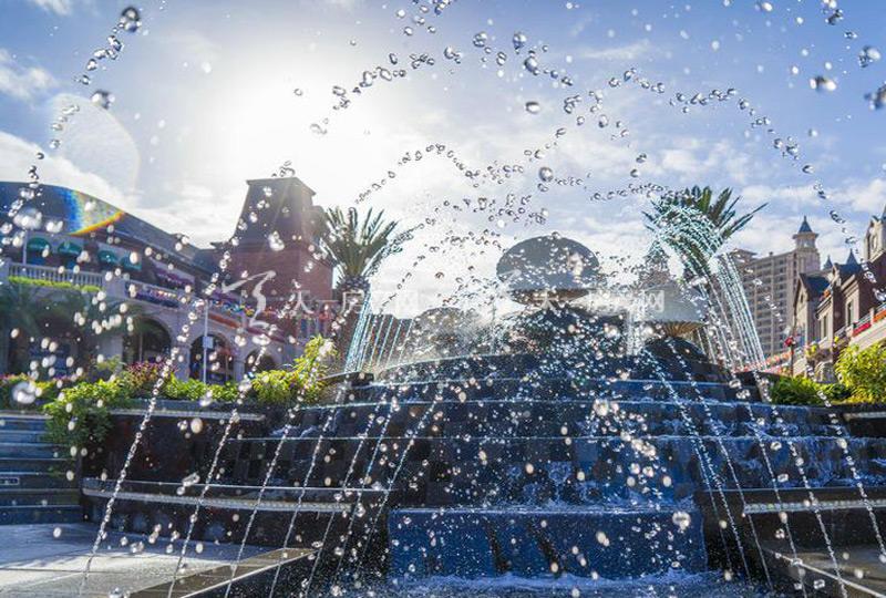珊瑚宫殿商业街喷泉实景图1.jpg