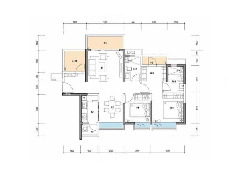 华章户型2室2厅2卫1厨建筑面积105.jpg