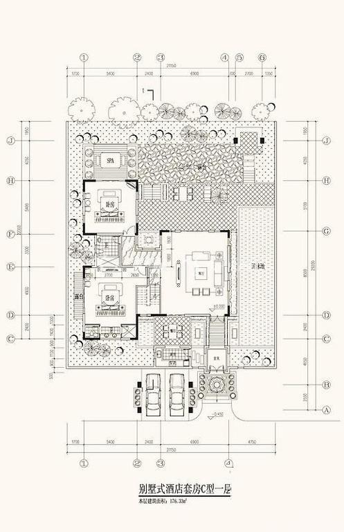 海的理想 C型一层平面图2室2厅1卫1厨176.33㎡.jpg