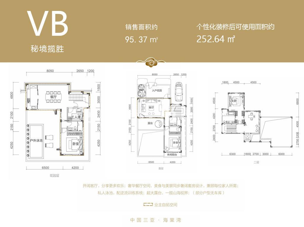 融创海棠湾 VB户型 95.37㎡