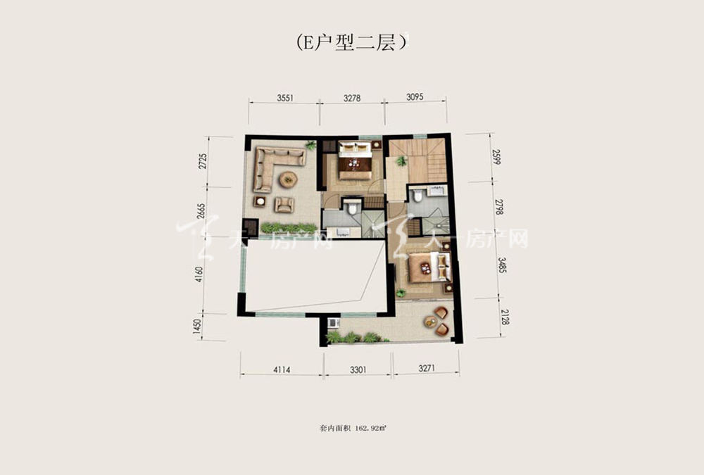 Aloha阿罗哈Aloha阿罗哈海景公寓E户型3室3厅4卫