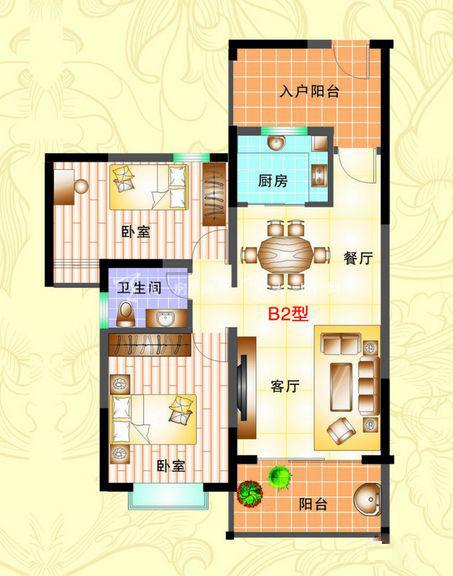 榆海万泉河畔 2室2厅1厨1卫86.51㎡.jpg