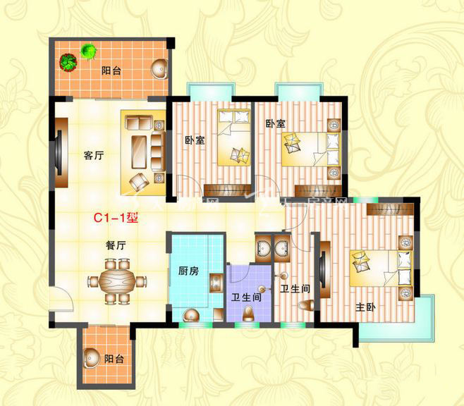 榆海万泉河畔 3室2厅1厨2卫122.43㎡.jpg