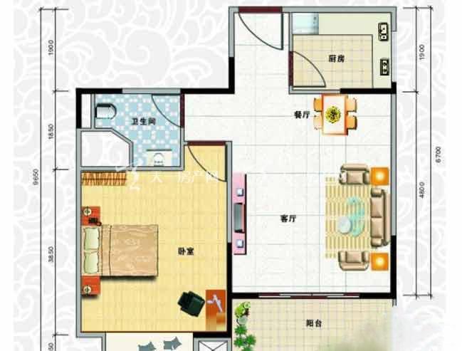 天龙佳园 1室2厅1卫1厨建筑面积58.86㎡.jpg