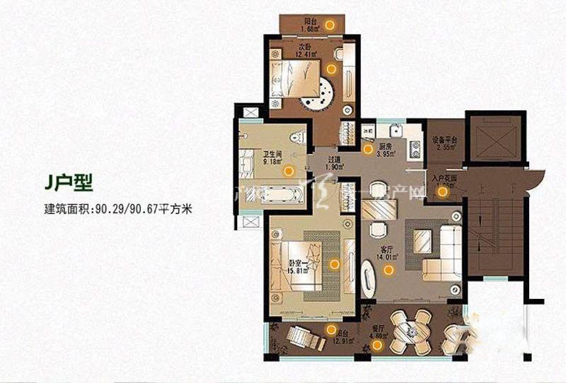 顺泽福湾 2室2厅1厨1卫90.67㎡.jpg