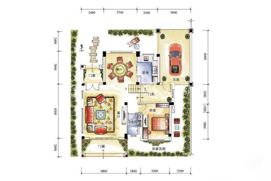 碧桂园金沙滩双拼G185户型一层5室2厅1厨4卫262.71㎡.jpg