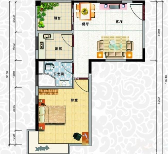 天龙佳园 1室2厅1卫1厨建筑面积54.41㎡.jpg