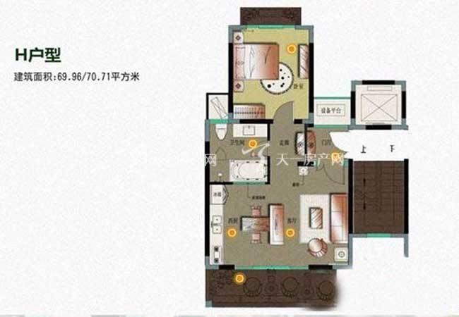 顺泽福湾 顺泽福湾H型花园洋房  1房1厅  69平方.jpg