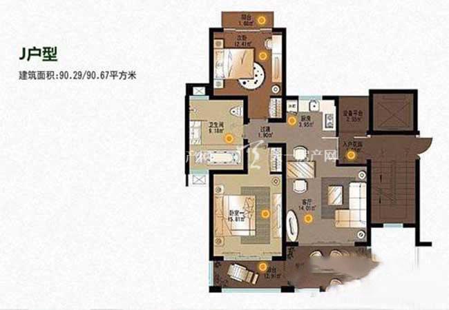 顺泽福湾 顺泽福湾J型花园洋房  2房 90平方.jpg
