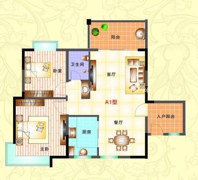 榆海万泉河畔 2室2厅1厨1卫89.47㎡.jpg