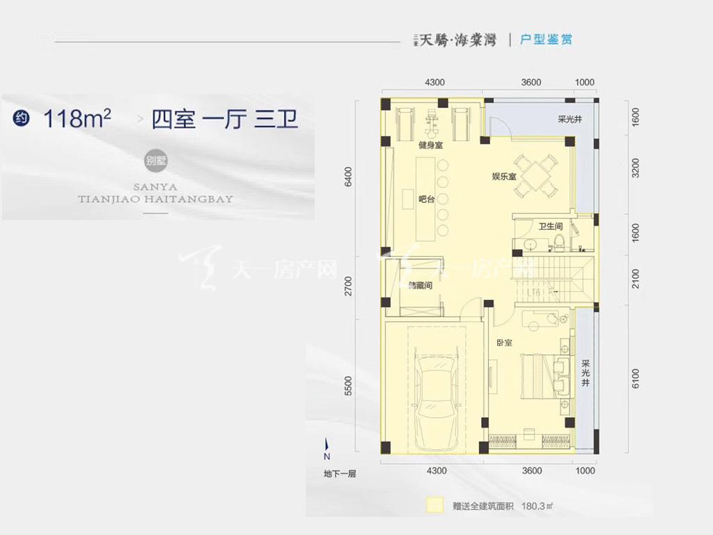天骄海棠湾 别墅地下一层户型-4房1厅3卫-约118㎡.jpg