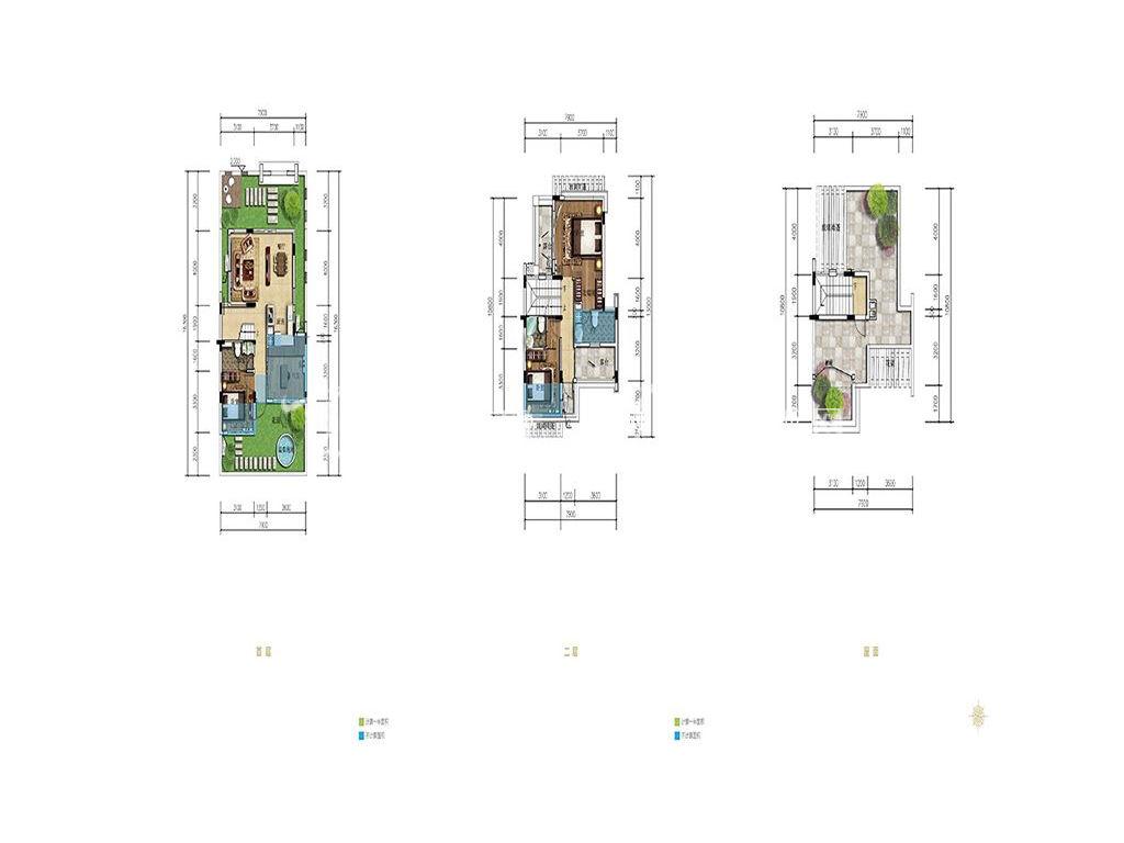 海棠湾8号 双拼院墅户型 首层、二层、层面4房2厅3卫102㎡.jpg