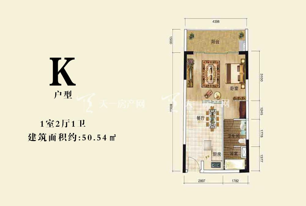 伊比亚天逸 K户型1室2厅1卫50.54㎡.jpg