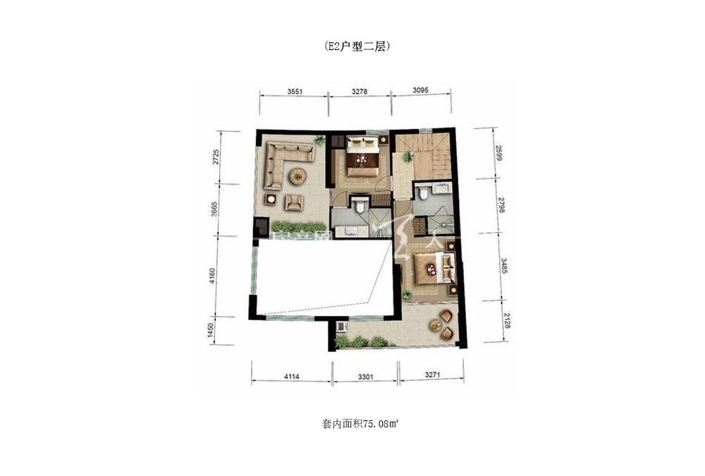 Aloha阿罗哈Aloha阿罗哈海景公寓E2室1厅0厨2卫建筑面积75.08