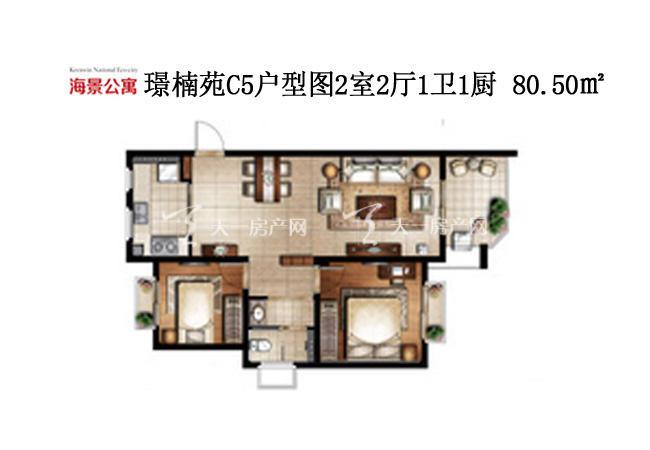 开维生态城 璟楠苑C5-2室2厅1卫1厨80.50㎡.jpg