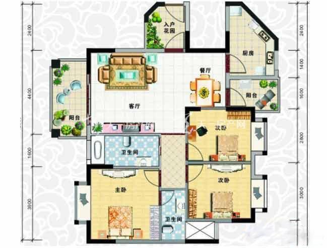 天龙佳园 3室2厅1卫2厨建筑面积110.76㎡.jpg