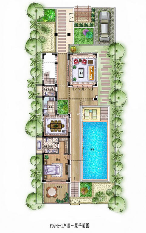 中铁诺德丽湖半岛E-1#3室2厅1厨1卫118.71㎡