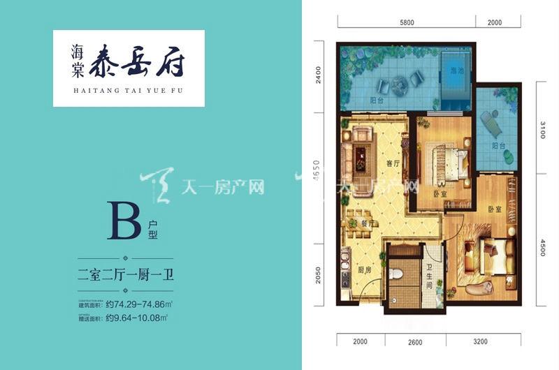 海棠泰岳府 B户型-2室2厅1厨1卫-74.29㎡.jpg