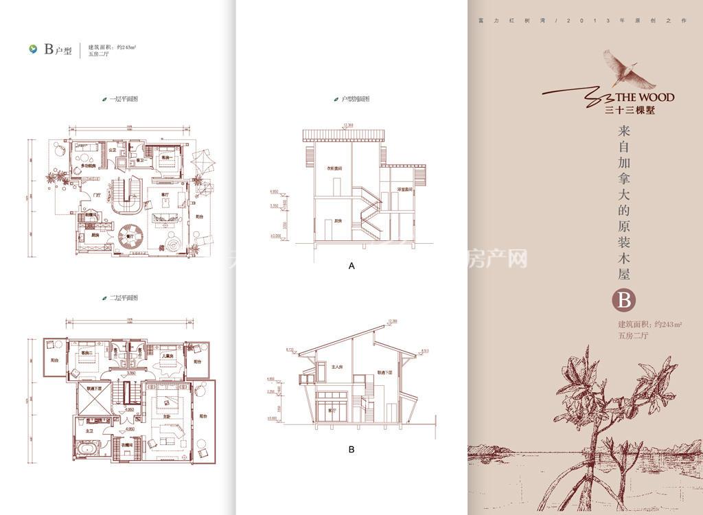 富力红树湾 三十三棵墅看房卡-B户型243㎡.jpg