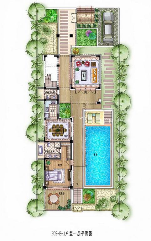 中铁诺德丽湖半岛E-1#3室2厅1厨2卫118.71㎡