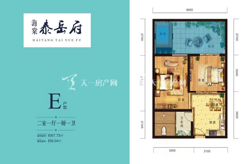 海棠泰岳府 E户型-2室1厅1厨1卫-67.73㎡.jpg