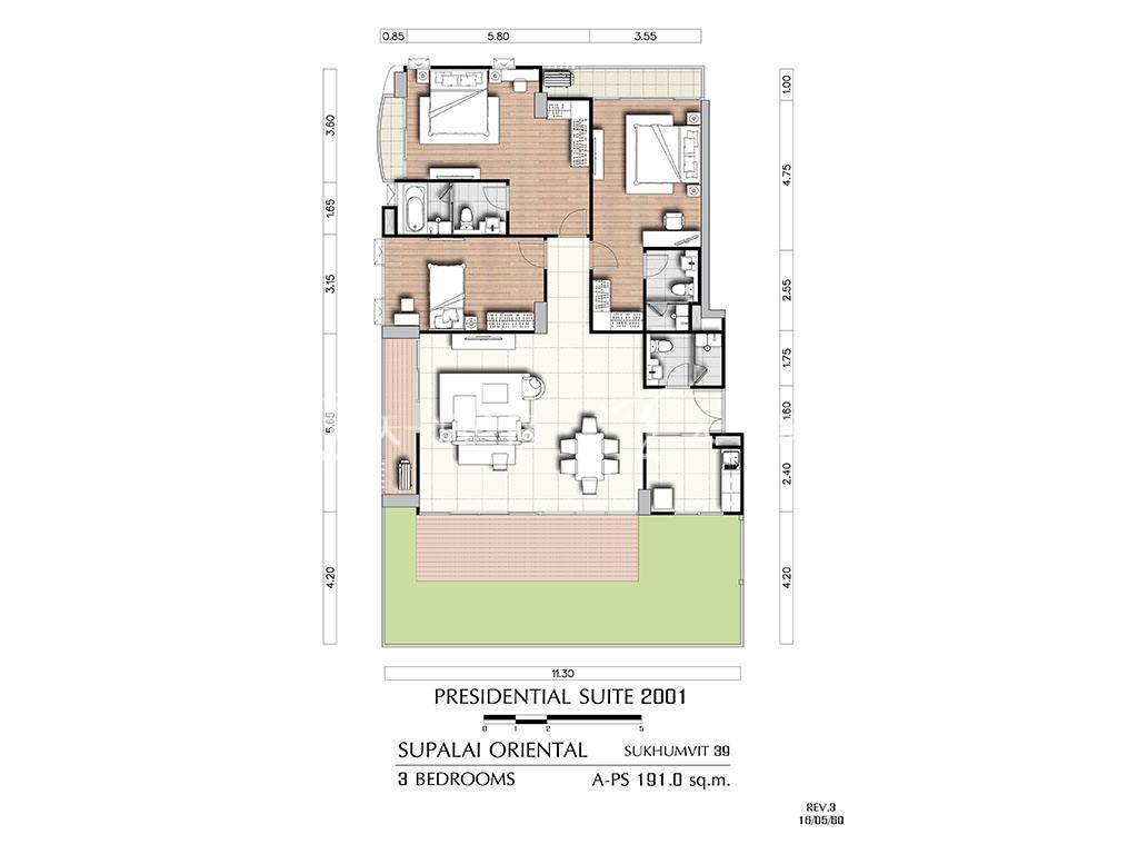 曼谷东方国际公寓 a-ps2001户型-3房2厅-建筑面积191㎡.jpg