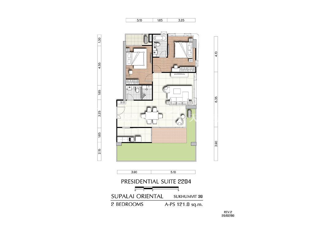 曼谷东方国际公寓 a-ps2204户型-2房2厅-建筑面积121㎡.jpg