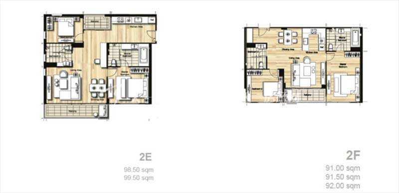 普吉岛Mai Khao海景公寓 平面户型图两居室79-98平方米.jpg