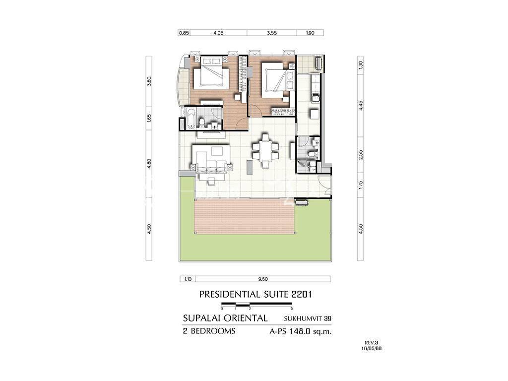 曼谷东方国际公寓 a-ps2201户型-2房2厅-建筑面积148㎡.jpg